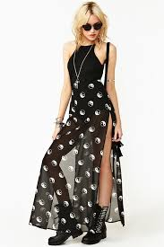 nasty gal controlled chaos maxi dress in black lyst
