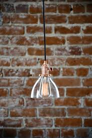 plug in glass pendant light industrial pendant light copper glass bell cone shade round canopy