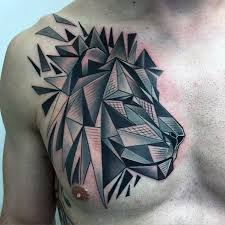 60 geometric lion tattoo designs for men masculine ideas