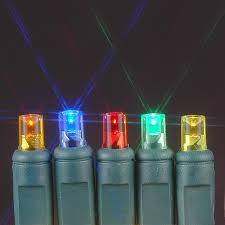 battery operated mini christmas lights 50 led battery operated christmas lights multi on green wire