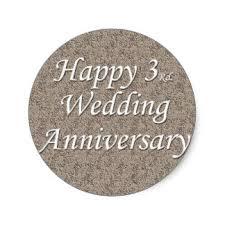 3rd wedding anniversary 3rd wedding anniversary stickers zazzle