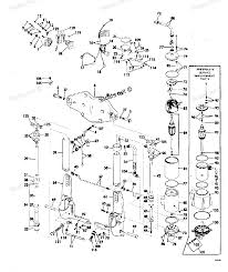 1975 135543e evinrude power tilt and trim diagram and parts