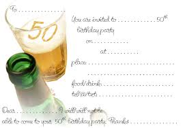 birthday invitation template templates for 50th birthday invitations free printable