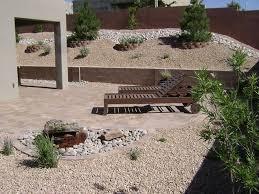 southwest landscaping ideas lawnless backyard desert