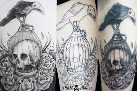raven skull n bones tattoo cll 140 11 58 c c puerta d u2026 flickr