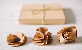 brown paper wrapping brown paper bag flowers kraft paper flower