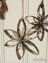 toilet paper tube snowflake ornaments toilet paper toilet and free
