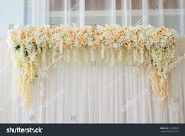 beautiful wedding arch decorated stock photo 429185029