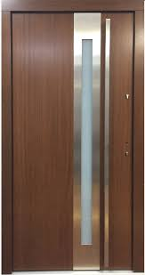 Frosted Glass Exterior Doors Model 027 Modern Prehung Wood Exterior Door W Frosted Glass