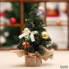 discount mini gold christmas tree decorations 2017 mini gold