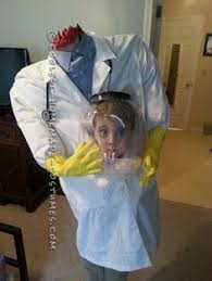 coolest homemade decapitated mad scientist halloween costume idea
