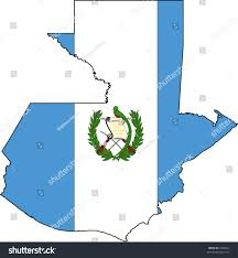 Guatemala Flag Vector Illustration Map Flag Guatemala Stock Vector 7828012