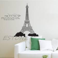 paris eiffel tower art decal mural removable diy home bedroom wall does not apply