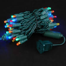 twinkle led christmas lights green wire 50 led christmas lights novelty lights inc