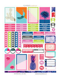 printable planner free pinterest free printable planner stickers tropical pop art happy planner