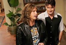 steven tyler rocks charlie sheen u0027s house today u0027s news our take