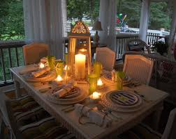 themed tablescapes themed tablescape setting with a lighthouse style lantern