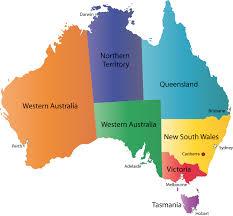 map of australia political map of australia and capital cities major tourist