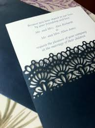 Laser Cut Wedding Programs Lace Pocket Simple Wedding Invitation Laser Cut Could Do It