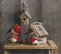 american robin birds felt ornaments decor set of 3 nova68