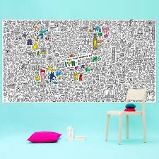 keith haring giant colouring in poster omy toys and hobbies teen
