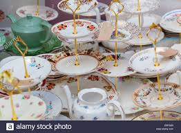 cake stands for sale china cake stands for sale portobello road london stock photo