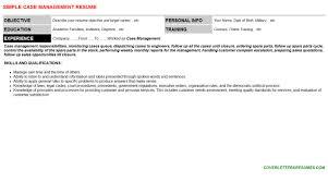 case management cover letter u0026 resume