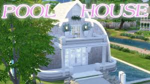 Build Pool House The Sims 4 Zen Pool House Speed Build No Cc Minimal Youtube
