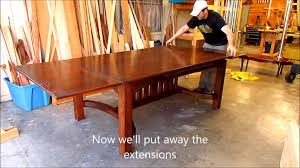 dutch pull out table dutch table exensions by austin joinery youtube