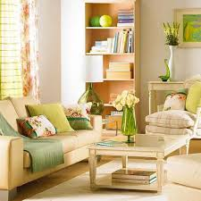 3 modern living room designs in fresh green color inspired by