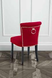 sedie per sala pranzo positano mirtillo rosso sedia per la sala da pranzo con anello