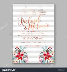 Sample Invitation Card For Christmas Party Wedding Invitation Card Template With Winter Bridal Bouquet