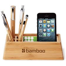 Business Card Caddy Made From Real Bamboo This Eco Friendly Organiser Conveniently