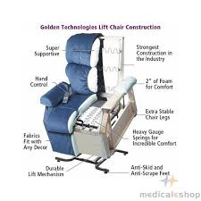 Golden Chair Lift Golden Technologies Monarch 3 Position Lift Chair Recline Lift Chair