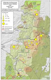 a map of oregon fires willamette national forest management