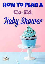 co ed baby showers coed baby shower ideas rectangle pink blue card with