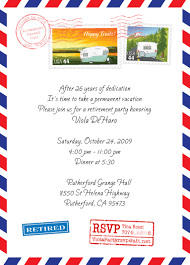 Birthday Party Invitation Card Design Post Office Style Retirement Party Invitation Card And
