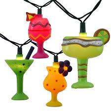 Tiki Solar Lights by Margarita Glass Party String Lights