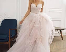 wedding dress with tulle wedding dress etsy