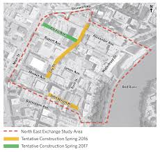 Winnipeg Map North East Exchange District Study Construction Public Works