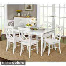 White Dining Room Sets Shop The Best Deals For Sep - White dining room table set