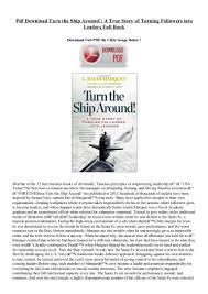 pdf download turn the ship around a true story of turning followers u2026