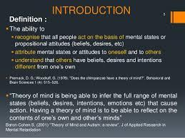 mind s theory of mind seminar presentation