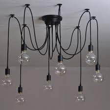 Chandelier Pendant Light 10 Lights Edison Retro Spider Industrial Pendant Light 110 220v