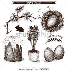 vintage birds drawing nest stock images royalty free images