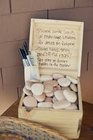 signing rocks wedding guest book smart as a box of rocks no jokes this would work well in