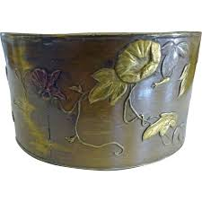 japanese mixed metals napkin ring birds bees flowers from
