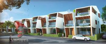 Row House Model - township visualization kullu 3d power