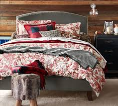 Who Invented The Duvet Alpine Toile Duvet Cover U0026 Sham Pottery Barn Cabin In The
