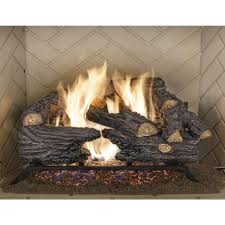 split oak vented natural gas log set